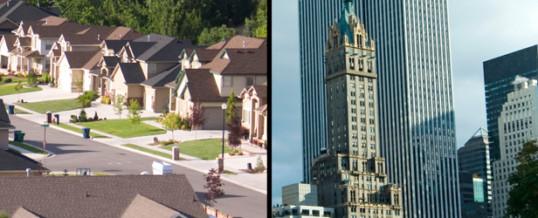 cities vs. suburbs